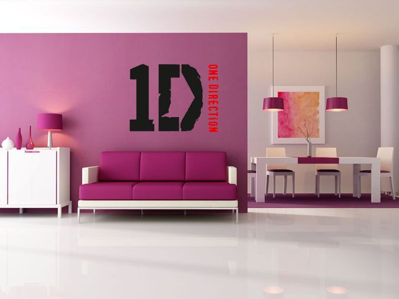 Quality One Direction Wall Art Sticker LOGO Wall Decal